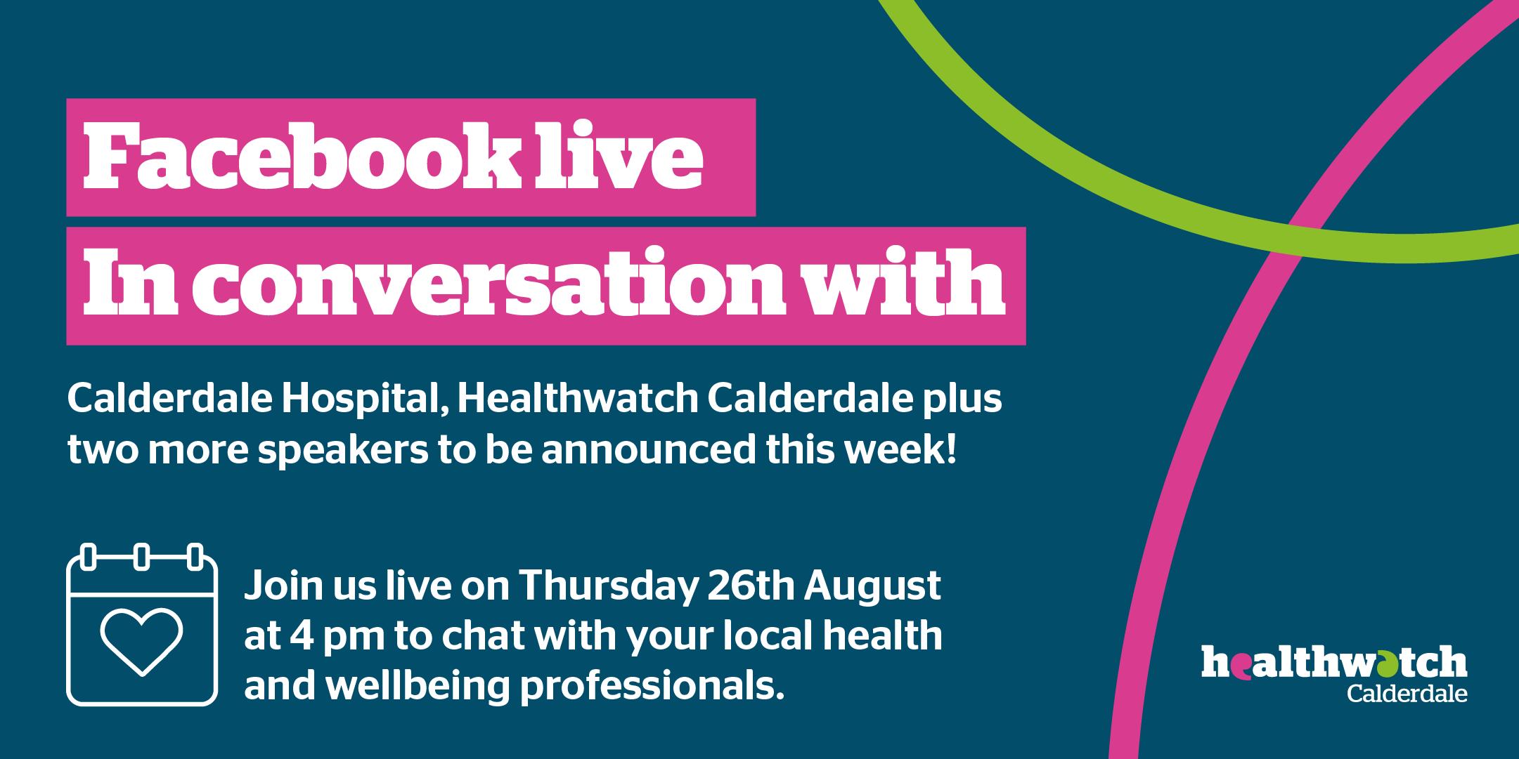 Facebook live event poster