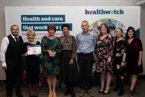 The Healthwatch East Sussex team receiving their award