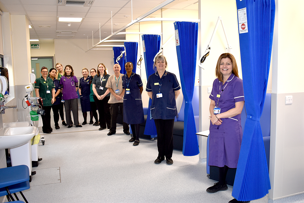 Same Day Emergency Care unit staff in the newly expanded unit