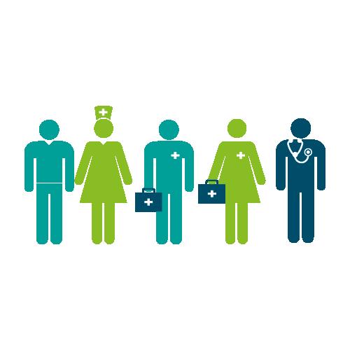 Healthwatch infographics of healthcare workers