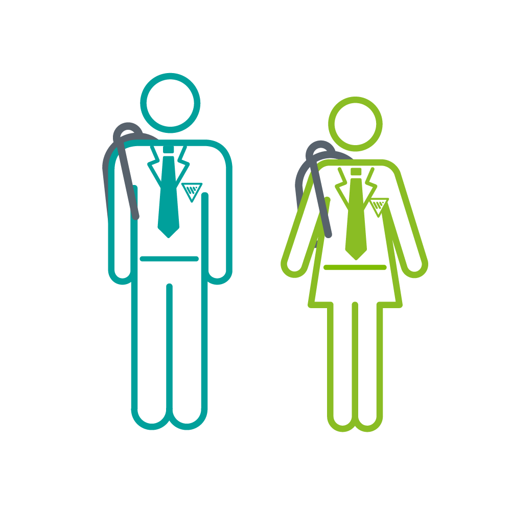 Figures of Doctors wearing stethoscopes