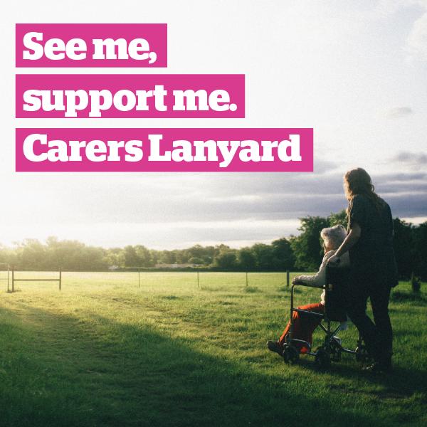 Carers Lanyard Kirklees - Social Card